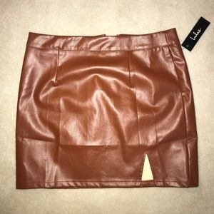 Lulu's Leather Mini Skirt